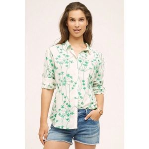 Anthropologie Holding Horses Embroidered Top